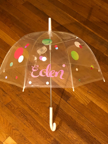 Little Diva Personalized Umbrella -  Eden's Garden