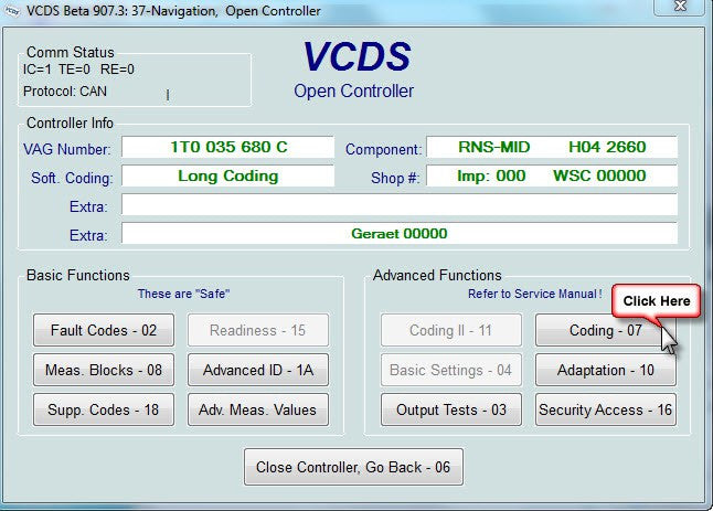 Coding your RNS510 via Vagcom