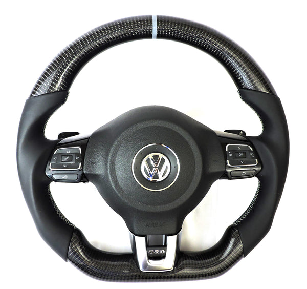 EZT Carbon Fiber-Napa Leather Steering Wheel (VW MK6)