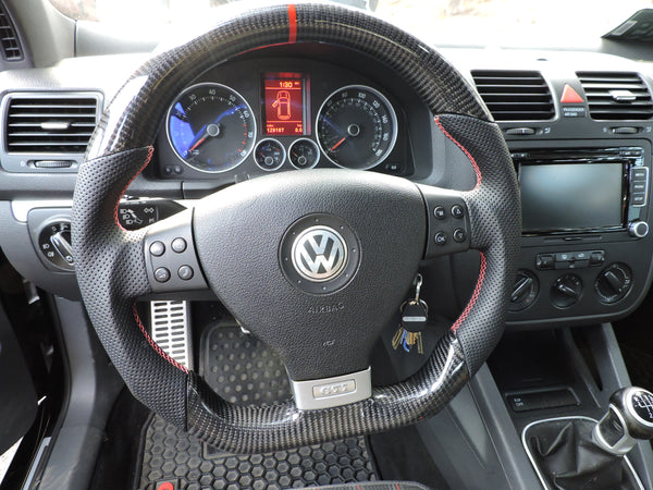 Ezt Carbon Fiber Perforated Steering Wheel Vw Mk5 Eurozone Tuning