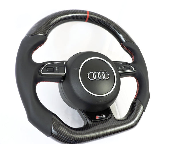 Audi 2008+ Carbon Fiber-Napa Steering Wheel