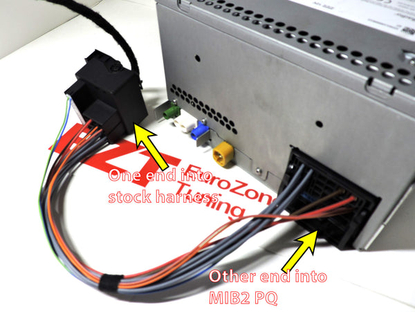 Quadralock Wiring Harness for MIB2 Retrofit