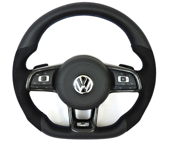 EZT Leather/Alcantara Custom Steering Wheel (VW MK7/MK7.5)