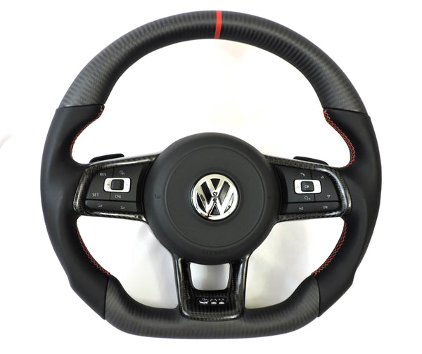 EZT Carbon Fiber-Napa Steering Wheel (VW MK7)