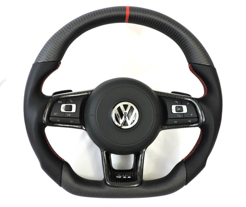 EZT Carbon Fiber-Napa Steering Wheel (VW MK7/MK7.5)