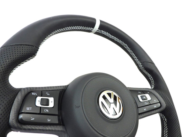 EZT Leather/Alcantara Custom Steering Wheel (VW MK7)