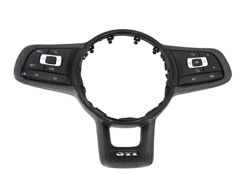 MK7 Carbon Fiber Steering Wheel Trim Ring (MK7 GTI/Golf R/GLI)