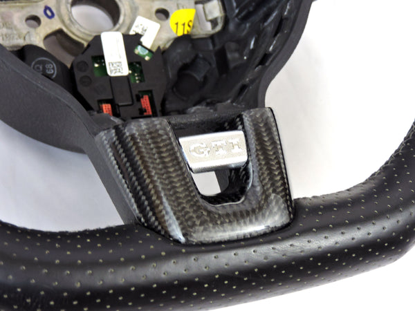 VW MK6 Carbon Fiber Steering Wheel Trim