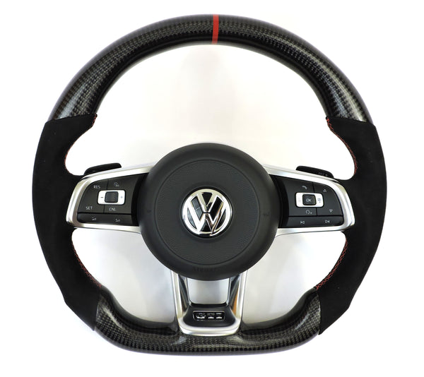EZT Carbon Fiber-Alcantara Steering Wheel (VW MK7)
