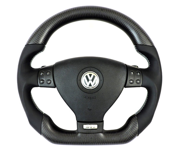 EZT Carbon Fiber-Napa Steering Wheel (VW MK5)