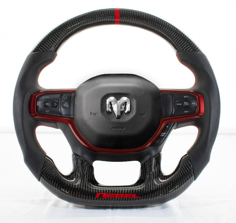 Dodge Ram 2019+ Carbon Edition Steering Wheel