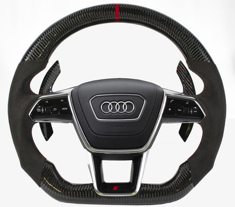 Audi C8 2020+ A6/S6/RS6/A7/S7/RS7 Carbon Edition Steering Wheel