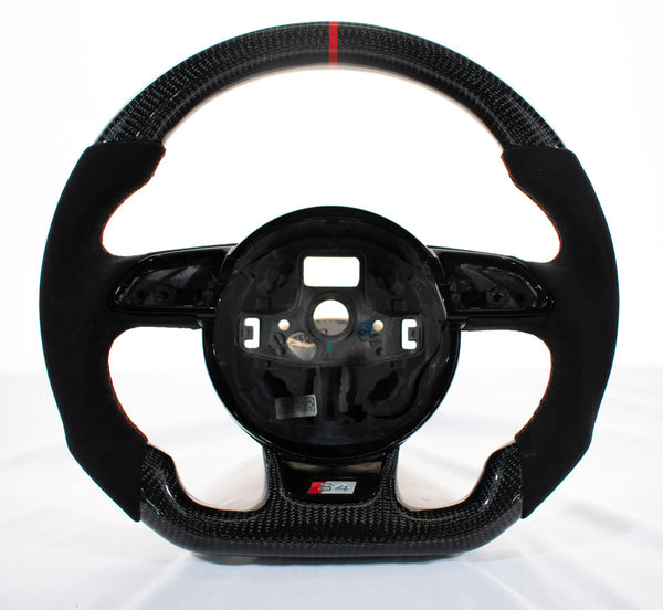 EZT Pre-Built Carbon Alcantara Steering Wheel (Audi B8.5)