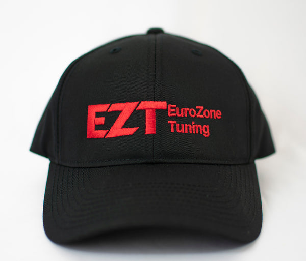 Eurozone Tuning Adjustable Cap in Black with Red Embroidering
