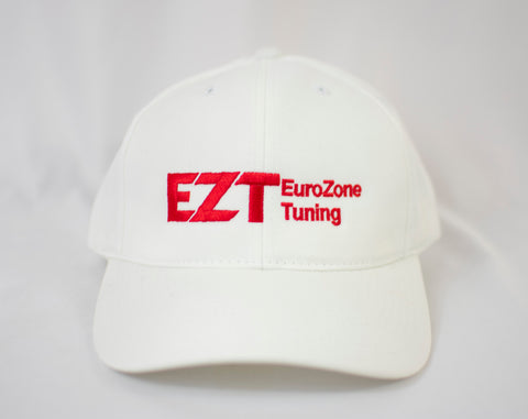 Eurozone Tuning Adjustable Cap in White with Red Embroidering