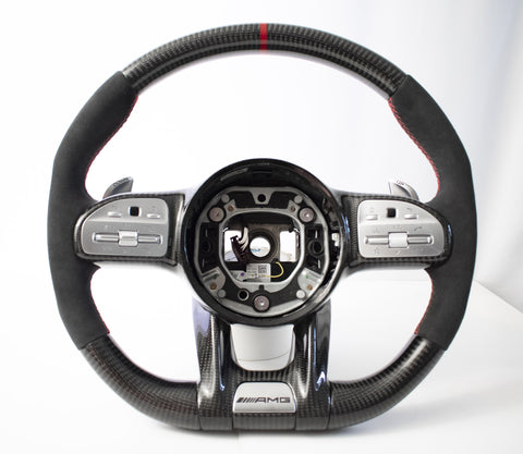 EZT Pre-Built Carbon Fiber-Alcantara Steering Wheel (Mercedes AMG Facelift)