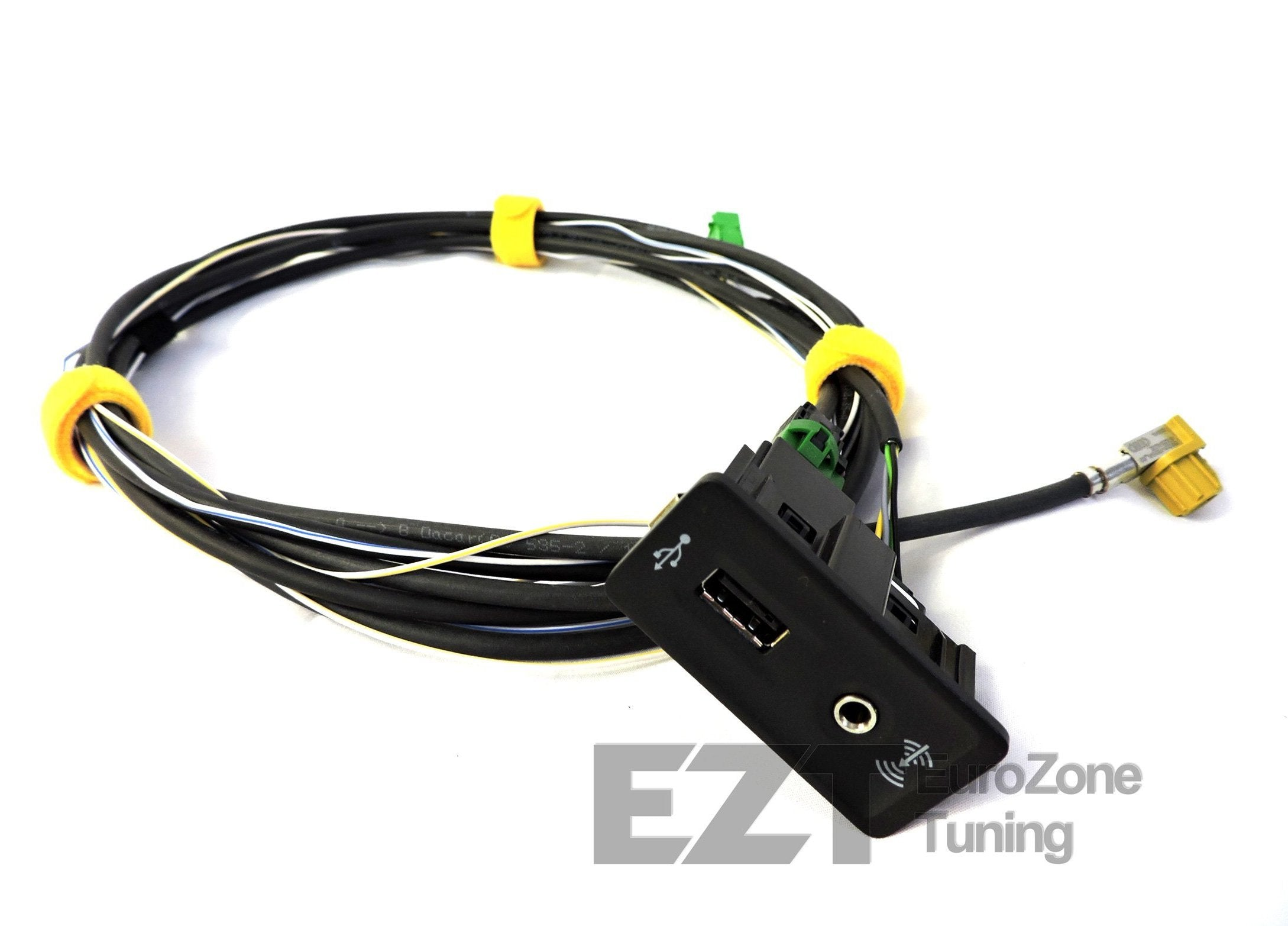 OEM USB/3.5mm Aux Input with Wiring Harness for MIB2 – Eurozone Tuning | Audi Usb Port Wiring |  | EuroZone Tuning