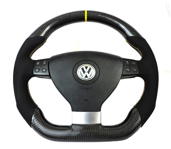 EZT Carbon Fiber-Alcantara Steering Wheel (VW MK5)