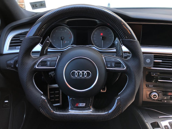 Audi B8.5 S4 S5 RS5 S6 S7 RS7 Carbon Fiber-Perforated Steering Wheel