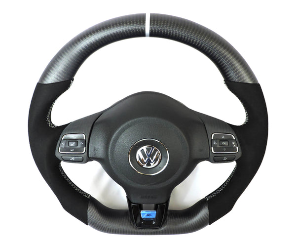 EZT Carbon Fiber-Alcantara Steering Wheel (VW MK6)
