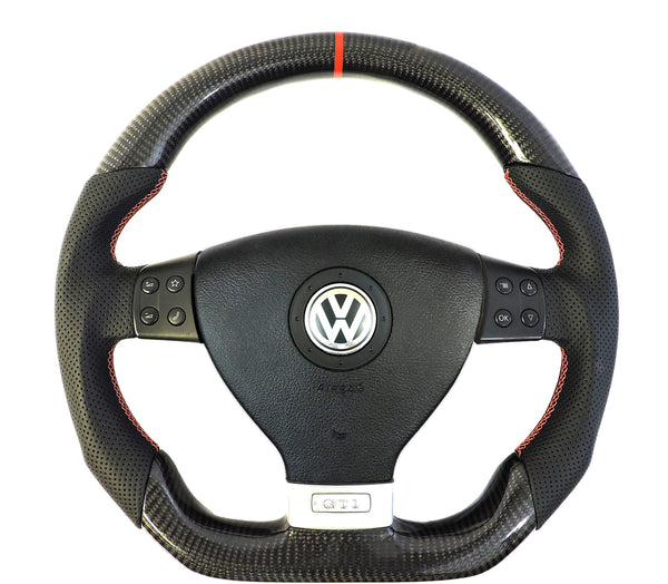 EZT Carbon Fiber-Perforated Steering Wheel (VW MK5)