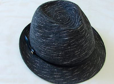 190c0d282b8 Authentic Giorgio Armani Men s Gray Fedora Hat Wool Made in Italy Size M