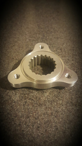 "Quarter Midget 1-1/4"" dia. 19 tooth spline rear hub   2024-T6 Aluminum   1/4-20 UNC  threaded holes   Increased strength with decreased rotating mass"