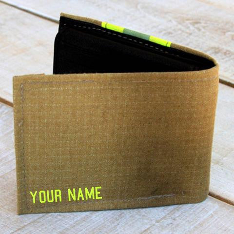 Tan Wallet Personalized