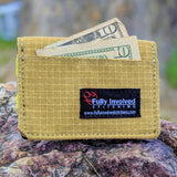 Firefighter TAN Slim Wallet made with Turnout Bunker Gear
