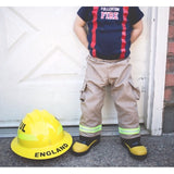 Firefighter Personalized TAN 3-Piece Baby Outfit