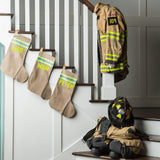 Firefighter Personalized BLACK Stocking