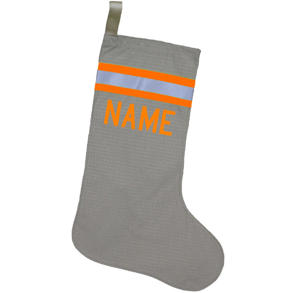 Firefighter TAN Stocking with RED/ORANGE Reflector