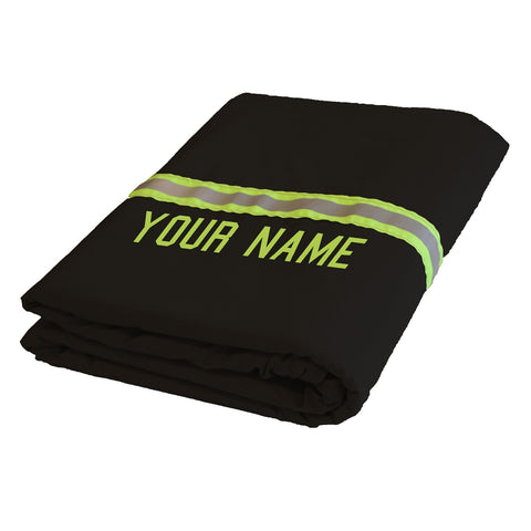 Firefighter Station Blanket BLACK with LIME/YELLOW Reflector