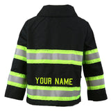 Firefighter Toddler BLACK Jacket with Name on Back (JACKET ONLY)