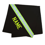 Firefighter Personalized BLACK Toddler Blanket