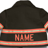 Firefighter Personalized BLACK Jacket with ORANGE Reflective (JACKET ONLY)