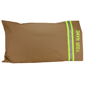 Firefighter Personalized TAN Pillow Case
