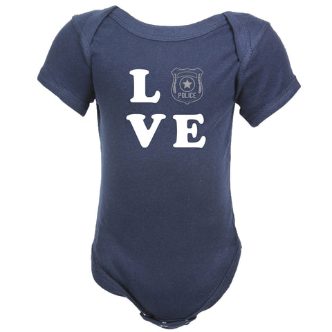 Police Baby LOVE Shirt with Badge (SHIRT ONLY)