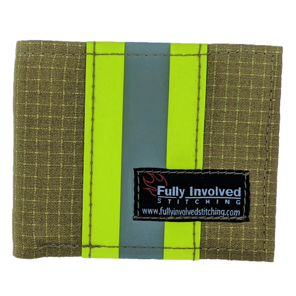Firefighter TAN CAPTAIN Wallet Made From Bunker Gear Material with Optional Personalization