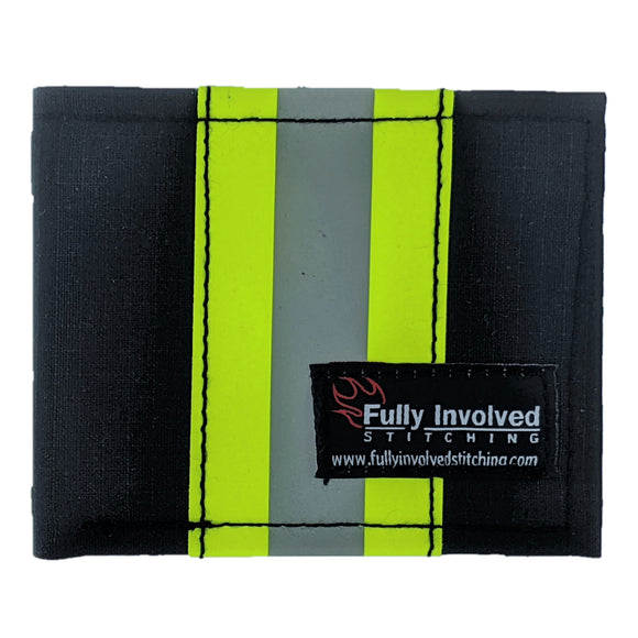Firefighter BLACK CAPTAIN Wallet Made From Bunker Gear Material with Optional Personalization