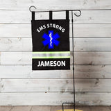 Firefighter Personalized BLACK EMS Yard Flag