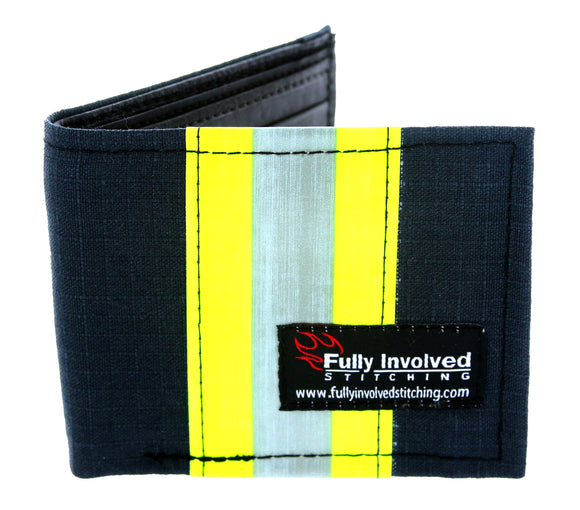Firefighter BLACK Repurposed CHIEF Wallet with Optional Personalization