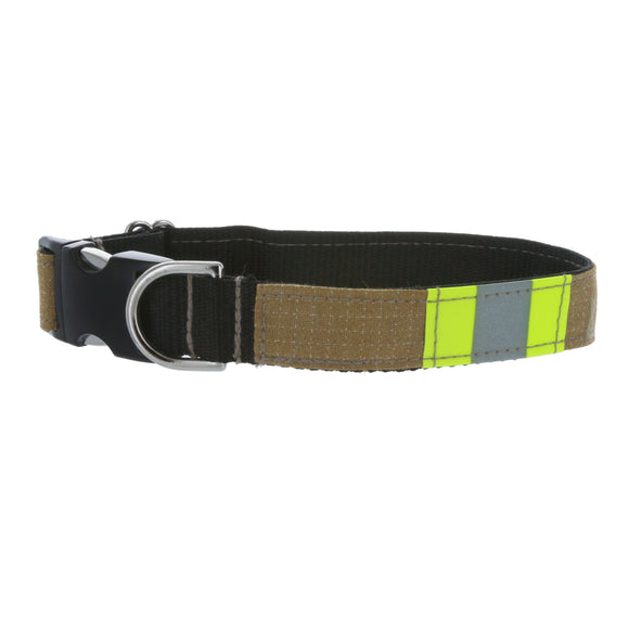 Firefighter Dog Collar Made From Repurposed Turnout Material