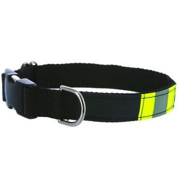 Firefighter Dog Collar Made From BLACK Repurposed Turnout Material