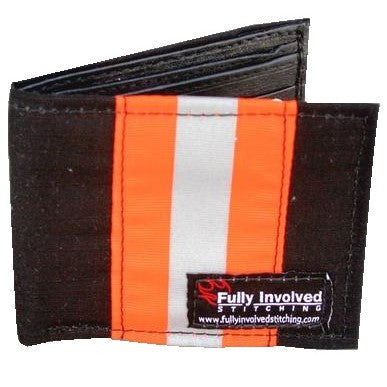FIREFIGHTER Wallet Made From BLACK/ORANGE New Materials LOOKS LIKE Turnout Bunker Gear