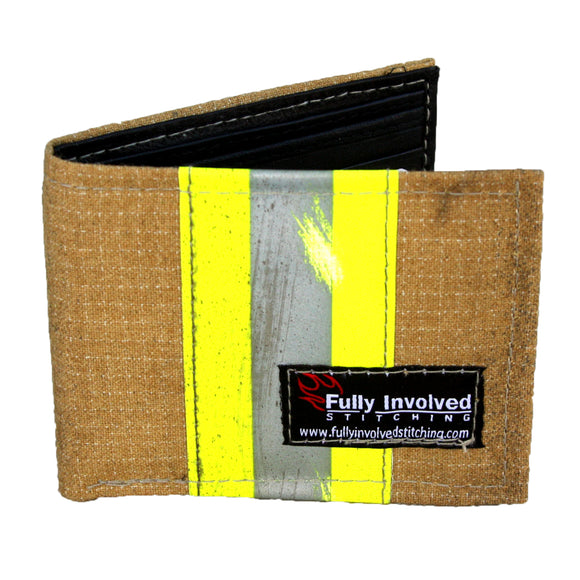 Firefighter TAN Repurposed CHIEF Wallet with Optional Personalization