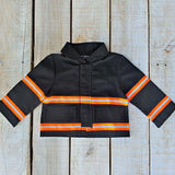 Firefighter Baby BLACK Jacket with RED/ORANGE Reflector (JACKET ONLY)