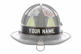 Firefighter Personalized Leather Helmet Name Tag Band