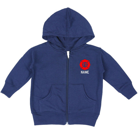 Firefighter Baby Zip-Up Hoodie