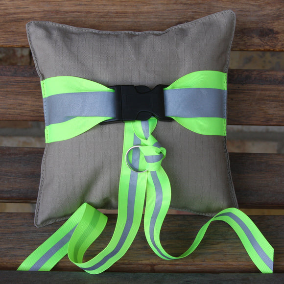Firefighter Ring Bearer TAN Pillow